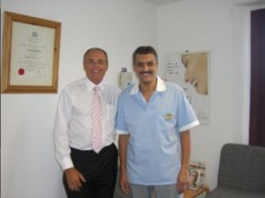 Dr Hassan El-Nashar with Richard Mason